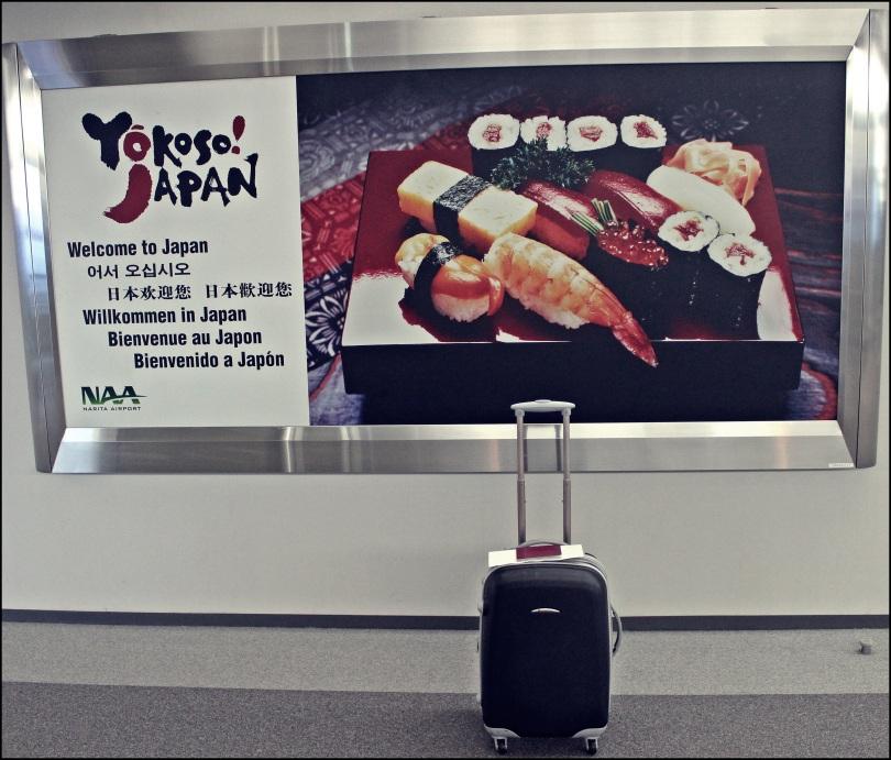 Llegada al aeropuerto de Narita