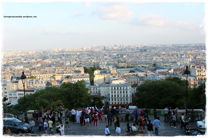 Vista de la ciudad de París desde Montmartre