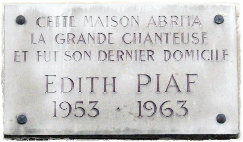 Plaque_Édith_Piaf,_67_boulevard_Lannes,_Paris_16